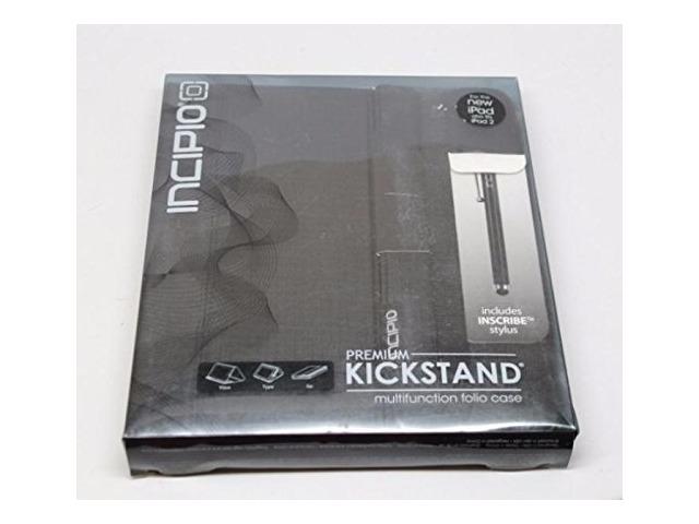 Incipio Premium Kickstand with Stylus, Black