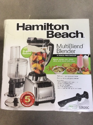 Home Blenders Commercial Juicers Hamilton Beach Multiblend Food Processor