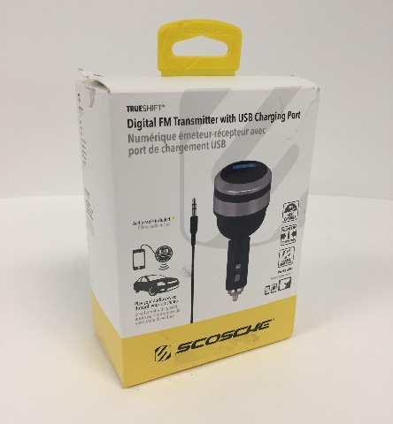 Scosche Digital FM Transmitter and USB Charger