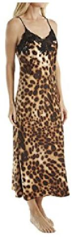 Women's Natori Leopard Nightgown, Size Medium - Brown