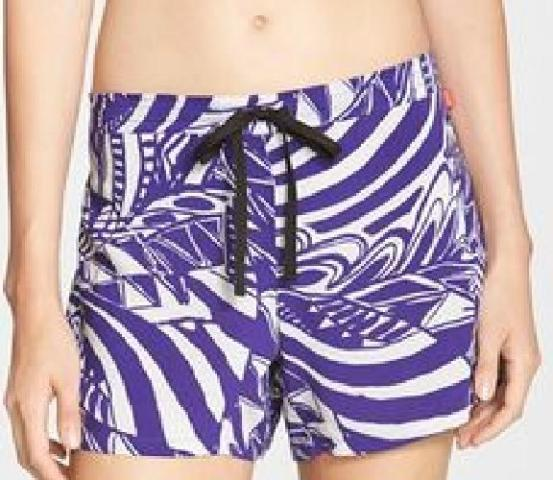 Women's Josie Print Woven Sleep Shorts, Size Small - Purple