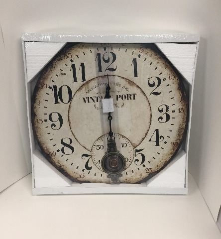Ergo Clock - Vintage Port Wall