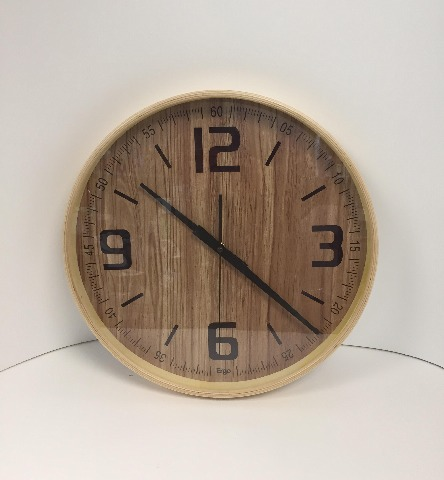 Ergo Clock - Bent Wood, Natural
