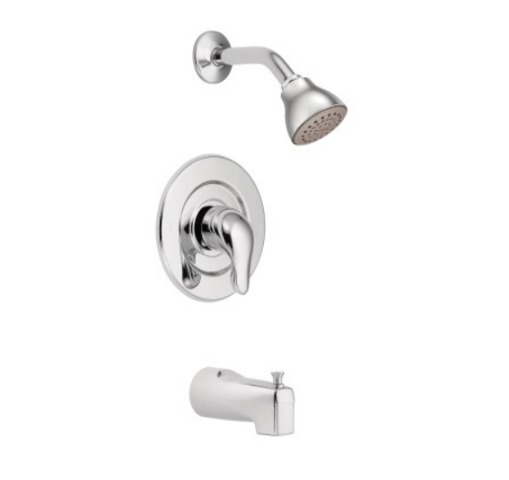 Moen TL471 Chrome Chateau Tub and Shower Trim Package with Single