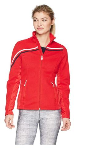 Spyder Women's Vintage Mid Weight Stryke Jacket, Red/red, Large