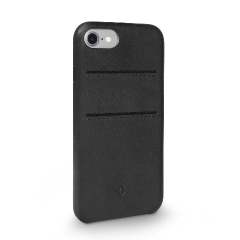 Twelve South Relaxed Leather Pockets Black Burnished Case iP 7 W/Pockets