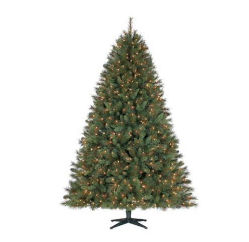 Holiday Time 7.5' Prescott Pine Christmas Tree Clear/White Lights