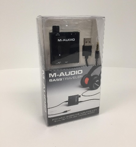 M-Audio Bass Traveler Portable Headphone Amplifier with Dual Outputs NEW