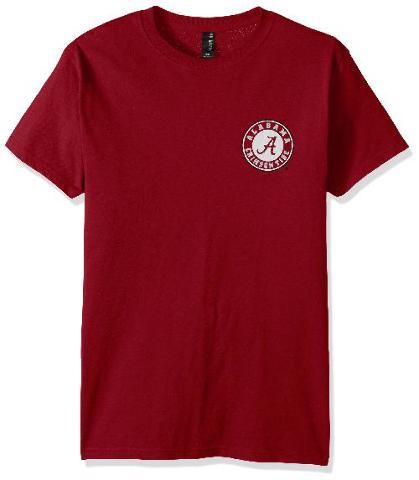 NCAA Alabama Crimson Tide Adult Unisex  Short Sleeve, Cardinal, X-Large