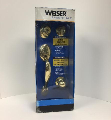 Weiser Essentials Entry Handle Set With Interior Knob