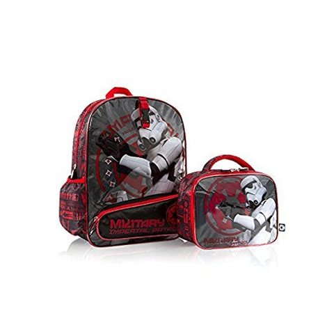 "Heys Star Wars 16"" Backpack Bag with Detachable Lunch Bag Kit - Imperial Patrol"