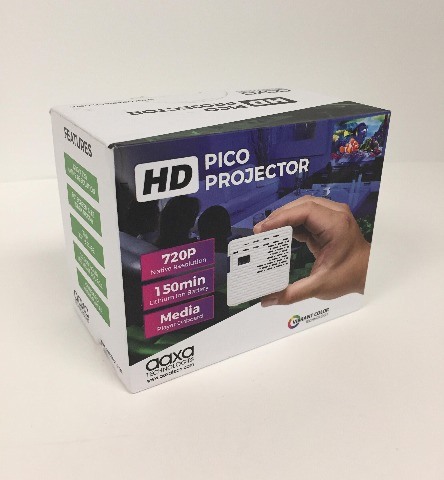 AAXA HD Pico Mini LED Projector, 150-Minute Rechargeable Battery, 1280x720p HD