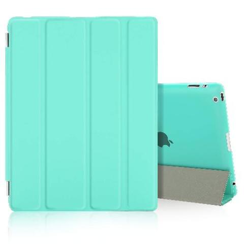 BESDATA Ultra Thin Magnetic Smart Cover for iPad 2 / iPad 3 / iPad 4, mint green