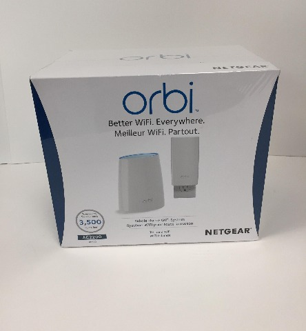 NETGEAR Orbi WiFi System RBK30 - Wi-Fi system router, extender - SEALED