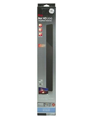 GE Pro Bar HD 200 Amplified Antenna - Indoor VHF / UHF HDTV Bar - 50 Mile Range