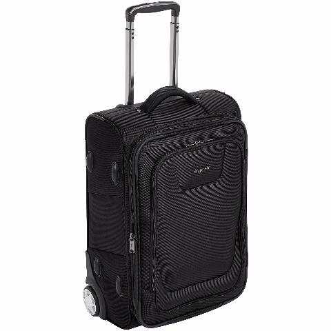 Amazonbasics Premium Upright Softside Suitcase with TSA Lock - 22 Inch, Black