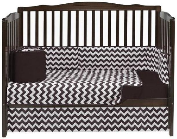 Baby Doll Bedding Chevron 4 Piece Crib Bedding Set