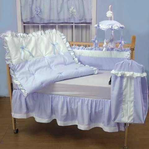 Baby Doll Bedding Regal Pique Crib Bedding Set, Blue