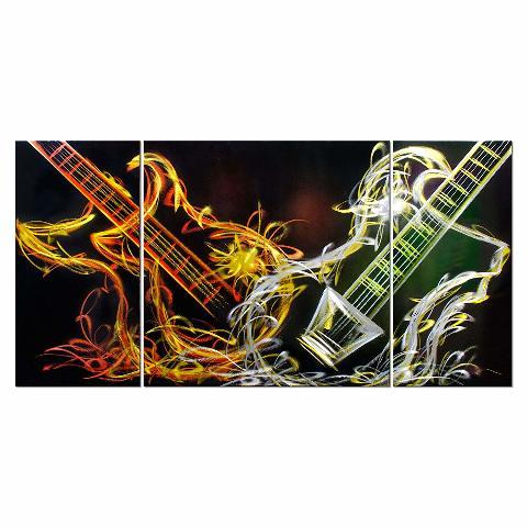 Metal Artscape Rebel At Heart, 3-Paneled Handmade Metal Wall Art, 20 By 39-Inch