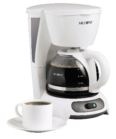 Mr. Coffee TF4 4-Cup Switch Coffeemaker, White