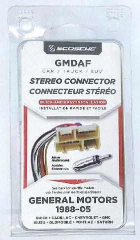 Scosche GMDAF Stereo Connector General Motors 1988-05 - NEW™
