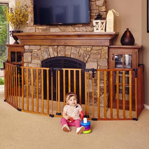"North States 3-In-1 Wood Superyard - 151"" Long Play Yard (30"" Tall)"