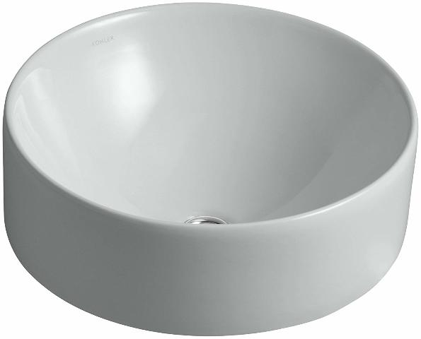 Kohler K-14800-95 Vox Vessel Round Above-Counter Bathroom Sink, Ice Grey
