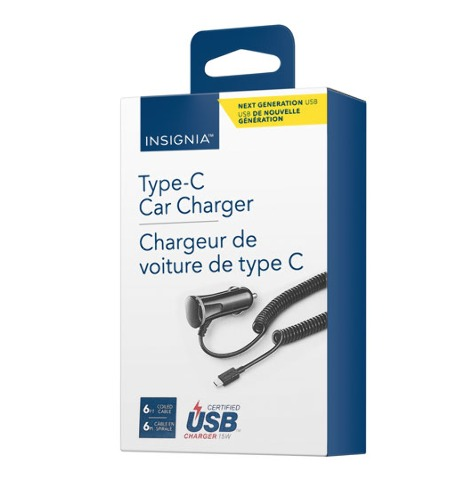 Insignia USB Type-c Car Charger NS-MDCF36C-C