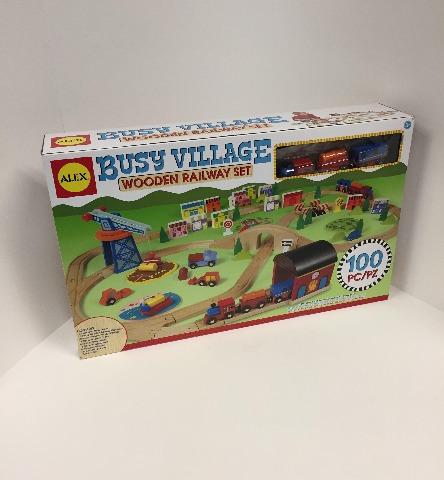 Alex Toys Busy Village Wooden Railway Set