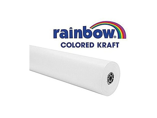 "Rainbow Kraft 1369515 Duo Finish Kraft Paper Roll, 48"" X 200' Size, White"