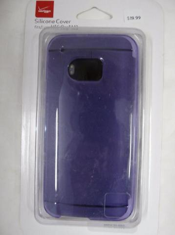 Verizon High Gloss Silicone Soft Shell Case Cover For Htc One M9 - Purple
