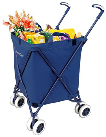 Versacart Transit Utility Cart - Folding Shopping Cart - Navy Blue