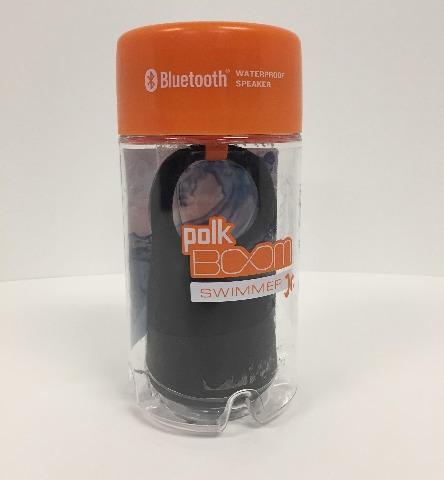 Polk Audio Swimmer Jr. Waterproof Bluetooth Speaker - Black-Smjbk-A