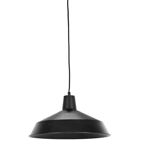 Barnyard 1-Light 16″ Industrial Warehouse Pendant, Matte Black Finish