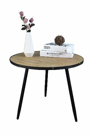 Aojezor Coffee Table,End Table,Bedside Table,Nightstand,Sofa Side Table, Round