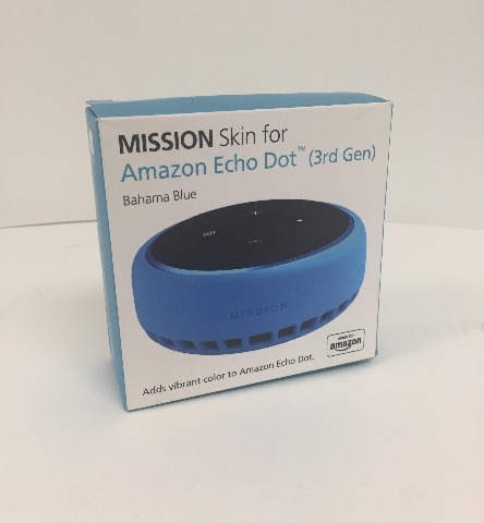 made For Amazon Mission Cables Skin For All-new Echo Dot 3rd Gen - Bahama Blue
