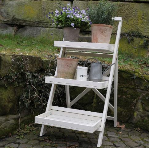 Esschert Design Stepped Plant Stand, White