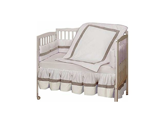 Baby Doll Bedding Classic Ii Crib Bedding Set, White