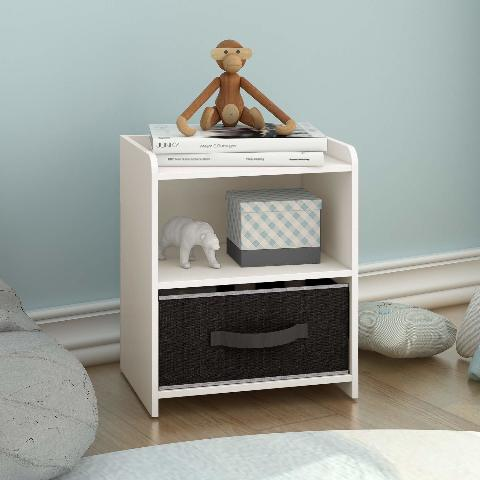 Devaise Wood End Table/Night Stand/Bedside Table - White