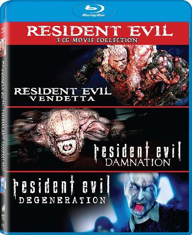 Resident Evil: Damnation /  Degeneration / Vendetta - Set [Blu-Ray] (SEALED))