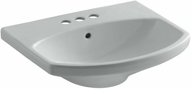 """Kohler K-2363-4-95 Cimarron Bathroom Sink Basin With 4"""" Centers, Ice Grey"""