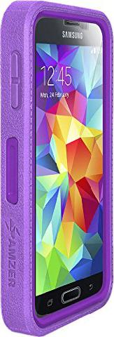 Crusta Rugged Case Tempered Glass with Holster for  S5 PURPLE