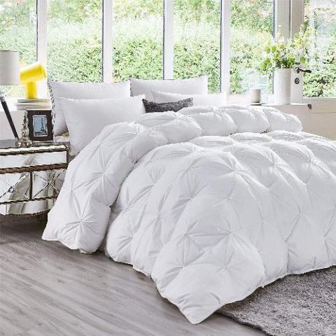 Luxurious All-Season Goose Down Comforter King Size Duvet Insert