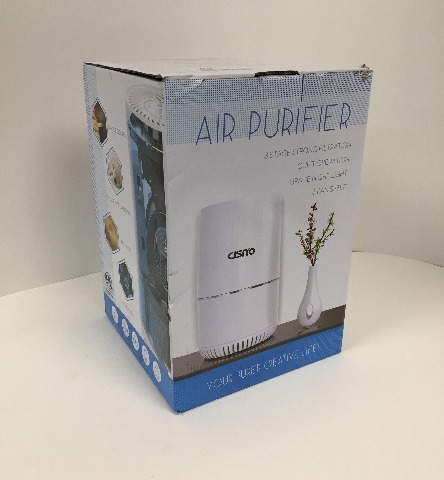 Cisno Air Purifier 3-Stage True Hepa Filter, Smoke Odor Pets Dander Remover
