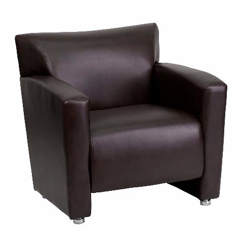 Flash Furniture Hercules Majesty Series Brown Leather Chair