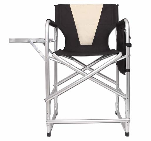 Tall Director's Chair Folding Portable Camping Chair
