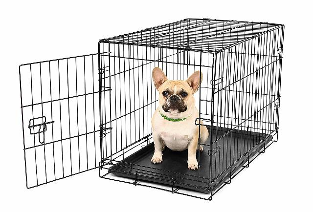 Carlson Secure And Compact Single Door Metal Dog Crate, Small