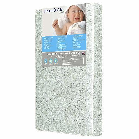"Dream On Me 2 In 1 Foam Core Crib Toddler Bed Mattress, Little Butterflies, 6"""