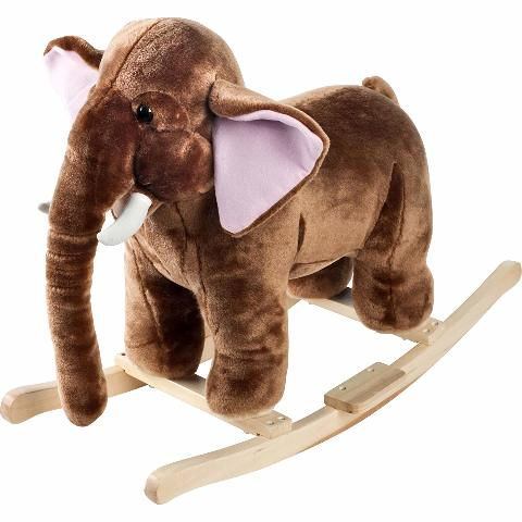 Happy Trails M370020 Plush Rocking Mo Mammoth With Sounds Ride On