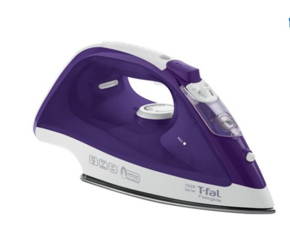 T-Fal 1550w Fastglide Steam Iron, Purple